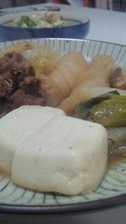 夕食(肉豆腐)