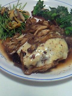 夕食(ハンバーグ)