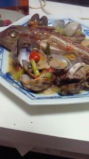 夕食(アクアパッツア)