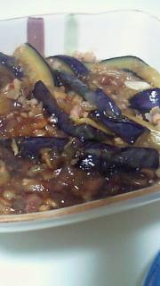 夕飯(麻婆茄子)